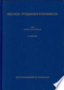 Almanca-Türkçe sözlük