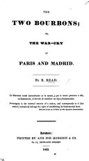 The Two Bourbons  Or  the Warcry of Paris and Madrid   In Verse