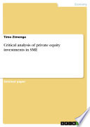 Critical analysis of private equity investments in SME