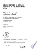 Economic Effects of Metallic Corrosion in the United States