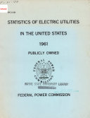Statistics of Electric Utilities in the United States  1961  Publicly Owned