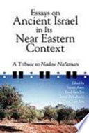Essays on Ancient Israel in Its Near Eastern Context