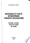 Demokrat Parti döneminde Türkiye ekonomisi