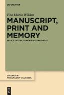 Manuscript, Print and Memory