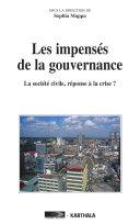 Pdf Les impensés de la gouvernance. La société civile, réponse à la crise ? Telecharger