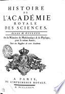 HISTOIRE DE L'ACADÉMIE ROYALE DES SCIENCES. ANNÉE M. DCCLXXX. Avec les Mémoires de Mathématique & de Physique, pour la même Année, Tirés des Registres de cette Académie
