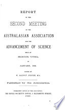 Report Of The Meeting Of The Australian And New Zealand Association For The Advancement Of Science