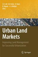 Urban Land Markets Pdf/ePub eBook