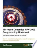 Microsoft Dynamics Nav 2009 Programming Cookbook