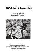 AGU 2004 Joint Assembly Book