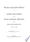 Sayings and Doings of the Sixth General Meeting
