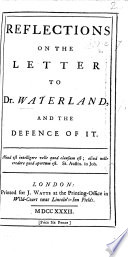Reflections on the letter to Dr  Waterland  by C  Middleton  and the Defence of it