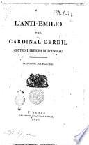 L'anti-Emilio del cardinal Gerdil contro i principj di Rousseau traduzione dal francese