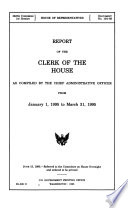 Report of the Clerk of the House from