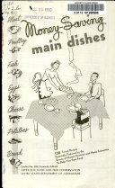 Money saving Main Dishes
