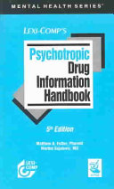 Psychotropic Drug Information Handbook