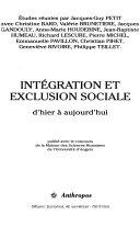 Intégration et exclusion sociale
