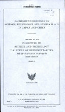Background Readings on Science  Technology  and Energy R    D  in Japan and China