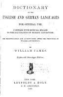 Dictionary of the English and German Languages for General Use