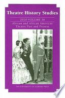 Theatre History Studies 2010