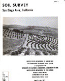 Soil survey, San Diego area, California