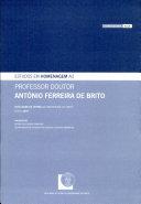 Estudos em homenagem a António Ferreira de Brito