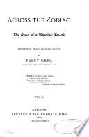 Across the Zodiac Book PDF
