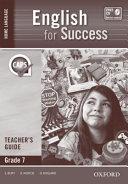 Books - English For Success Home Language Grade 7 Teachers Guide   ISBN 9780195999891