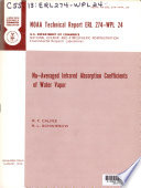 Nu Averaged Infrared Absorption Coefficients Of Water Vapor