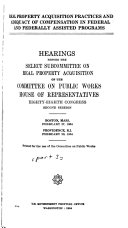 Hearings Before the Subcommittee on Public Buildings and Grounds of the Committee on Public Works  House of Representatives