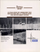Evaluation of Laboratory Test Results for the U.S. Gypsum Sight and Sound Screen System