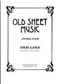 Old Sheet Music Book