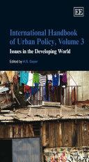 International Handbook of Urban Policy