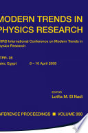 Modern Trends in Physics Research