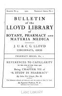 Bulletin Of The Lloyd Library Of Botany Pharmacy And Materia Medica No 4 1902