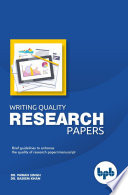 Writing Quality Research Papers Book