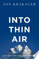 Into Thin Air Book PDF
