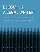 Becoming a Legal Writer