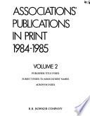 Association Publications in Print, 1984-1985