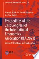 Proceedings of the 21st Congress of the International Ergonomics Association  IEA 2021