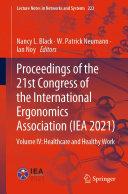 Proceedings of the 21st Congress of the International Ergonomics Association (IEA 2021) Pdf/ePub eBook
