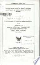 Survey of the Federal Reserve System s Supervision of the Treasury Securities Market Book