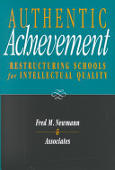 Cover of Authentic achievement