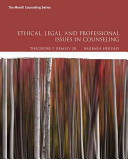 Ethical Legal And Professional Issues In Counseling PDF