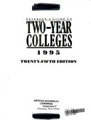 Peterson's Guide to Two-Year Colleges, 1995