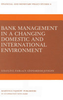 Pdf Bank Management in a Changing Domestic and International Environment: The Challenges of the Eighties Telecharger