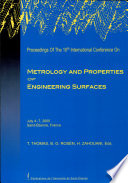 Proceedings Of The 10th International Conference On Metrology And Properties Of Engineering Surfaces Book PDF