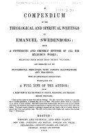 Pdf A Compendium of the Theological and Spiritual Writings of Emanuel Swedenborg ... Second thousand