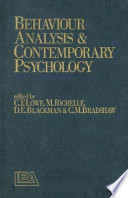 behaviour analysis and contemporary psychology
