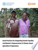 Good practices for integrating gender equality and women   s empowerment in climate smart agriculture programmes